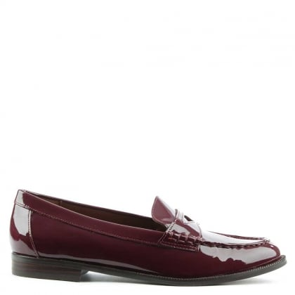 Lauren by Ralph Lauren Barrett Claret Patent Leather Loafer