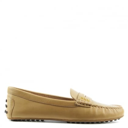 Lauren by Ralph Lauren Belen Soft Camel Leather Driver Loafer