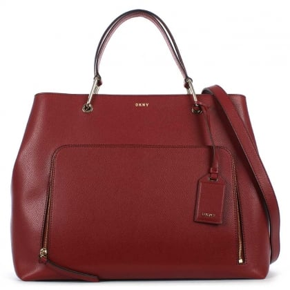 DKNY Bryant Scarlet Leather Large Satchel Bag