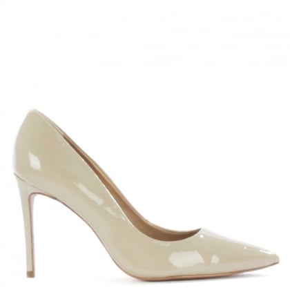 DF By Daniel Skycrambe Nude Patent High Court Shoe
