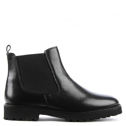 DF By Daniel Burnby Black Leather Chelsea Boot