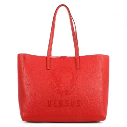Versus Versace Pura Red Leather Shopper Bag
