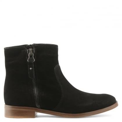 Moda In Pelle Corbella Black Suede Ankle Boot