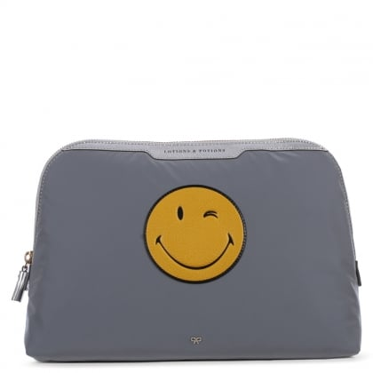 Anya Hindmarch Wink Lotions Potions Large Grey Cosmetic Case