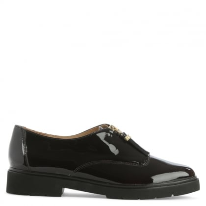 Michael Kors Dawson Plum Leather Zip Fastening Loafer
