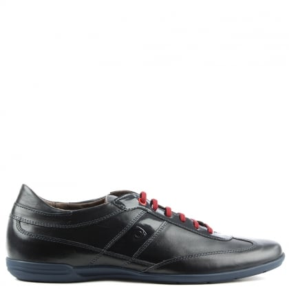 Enzo Feldini Navy Leather Lace Up Casual Shoe