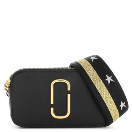Marc Jacobs Snapshot Black Leather Small Camera Bag