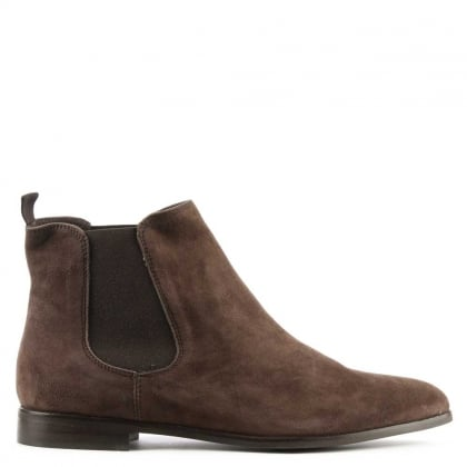 Lamica Brown Suede Chelsea Boot