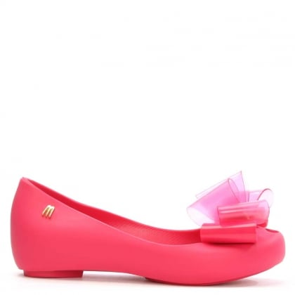 Melissa Kid's Fuschia Ultragirl Twin Bow Ballet Flat