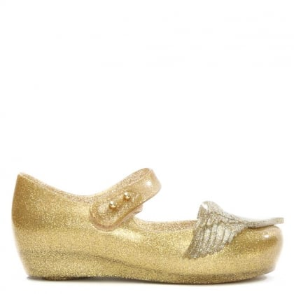 Vivienne Westwood Mini Ultragirl Cherub Gold Glitter Mary Jane
