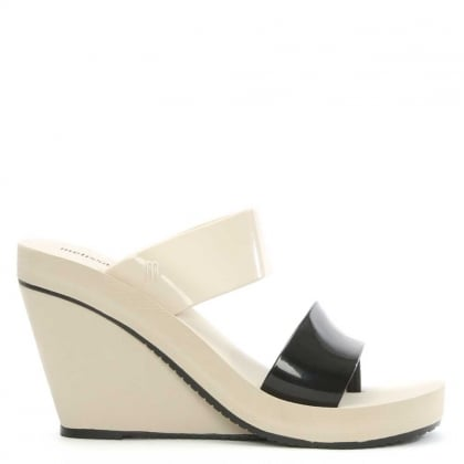 Melissa Summer High Ivory Rubber Wedge Sandal