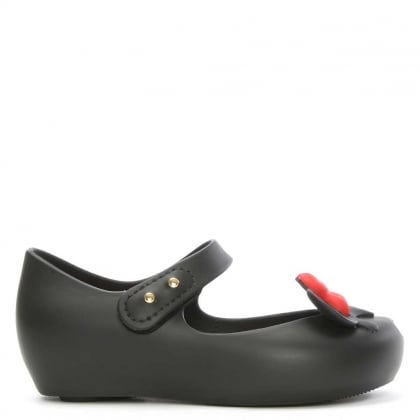 Melissa Kid's Mini Mouse Black Rubber Mary Jane