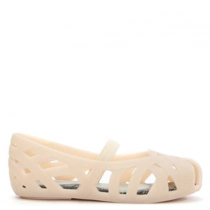 Melissa Jason Wu Kids Nude Rubber Mint Mary Jane