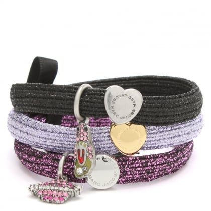 Marc Jacobs Cluster Pony Purple Space Charm Hair Elastics