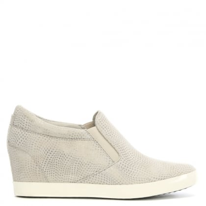 Kennel & Schmenger Ragdoll Taupe Suede Metallic Leather Wedge Trainer