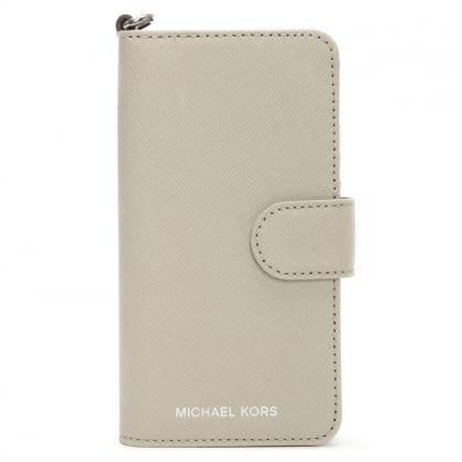 Michael Kors Saffiano Cement Leather Folio iPhone 7 Case