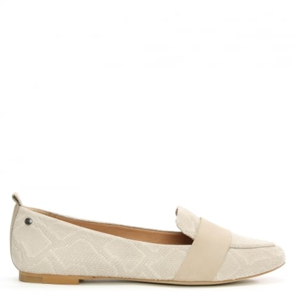 UGG Jonette Snake Ceramic Leather Loafer
