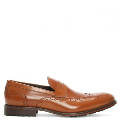 Daniel Sherborne Tan Leather Brogue Loafer