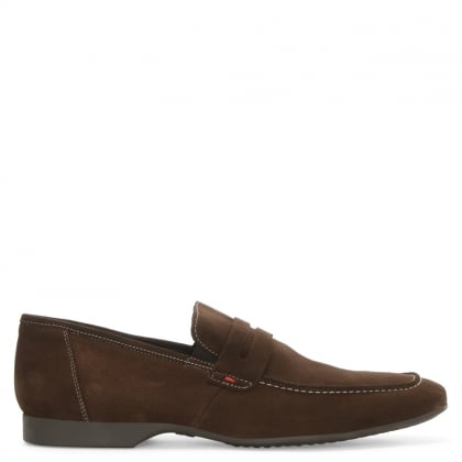 Roman Rock Rocky 100 Brown Suede Saddle Loafer