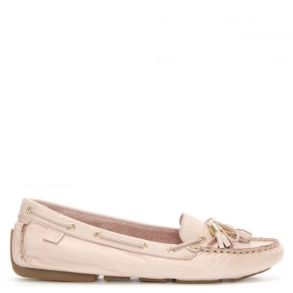Moda In Pelle Alivia Pink Leather Moccasin