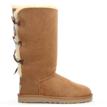 UGG Tall Bailey Bow Chestnut Twinface Boot