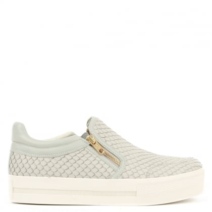 Ash Jordy Marble Leather Reptile Chunky Sole Trainer