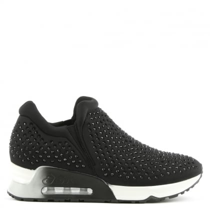 Ash Lifting Black Neoprene & Gemstone Trainer