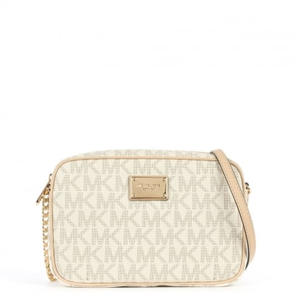 Michael Kors Jet Set Logo Vanilla Cross-Body Bag