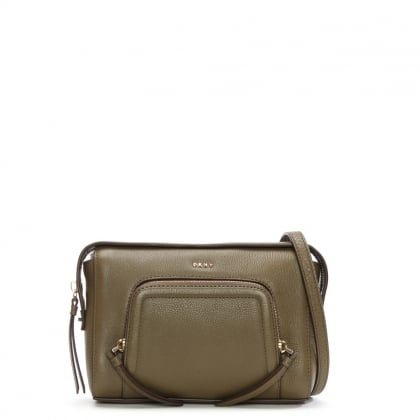 DKNY Chelsea Vintage Utility Leather Cross-Body Bag