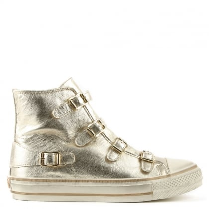Ash Virgin Bis Platinum Leather High Top Trainer