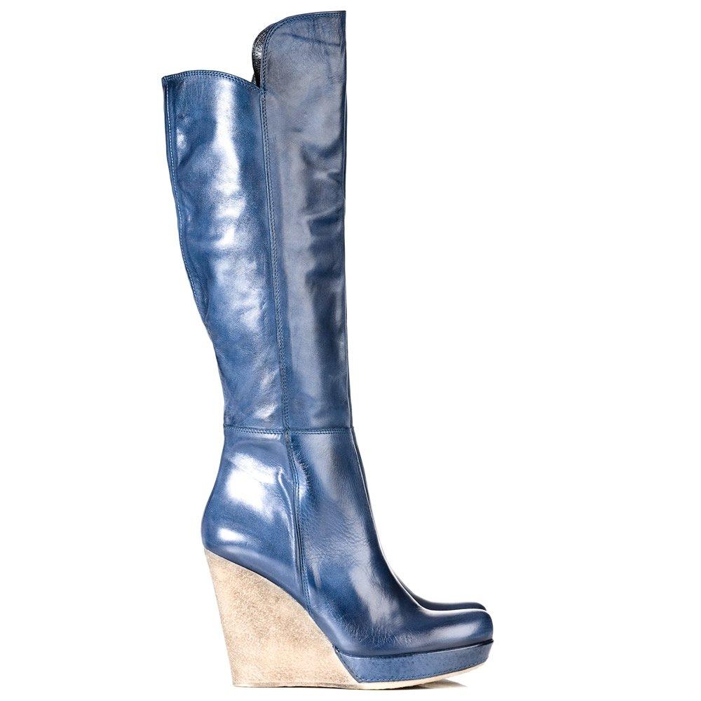 daniel wisdom womens knee high wedge boot