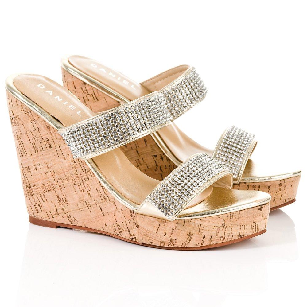 Daniel Gold Howell Womens Wedge Sandal Daniel From