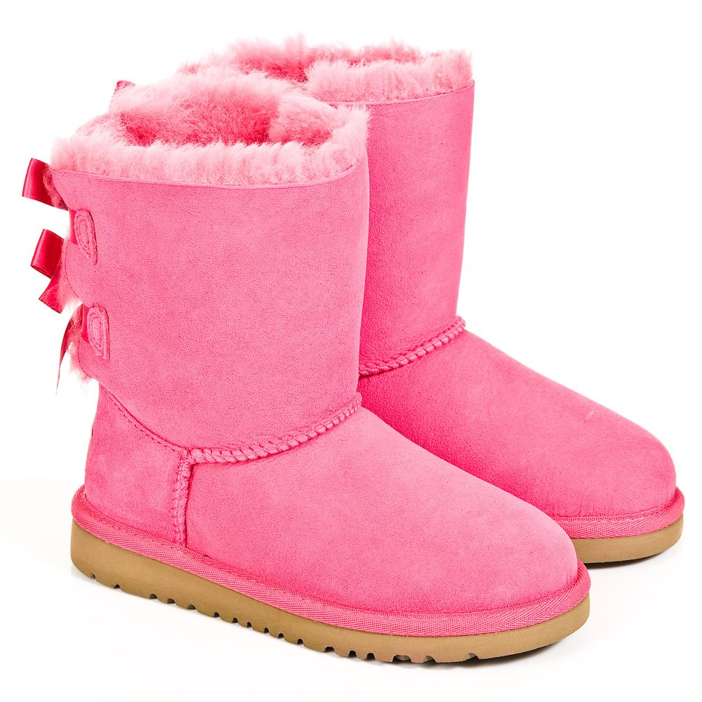 cerise bailey bow kids pink ugg boot. Black Bedroom Furniture Sets. Home Design Ideas