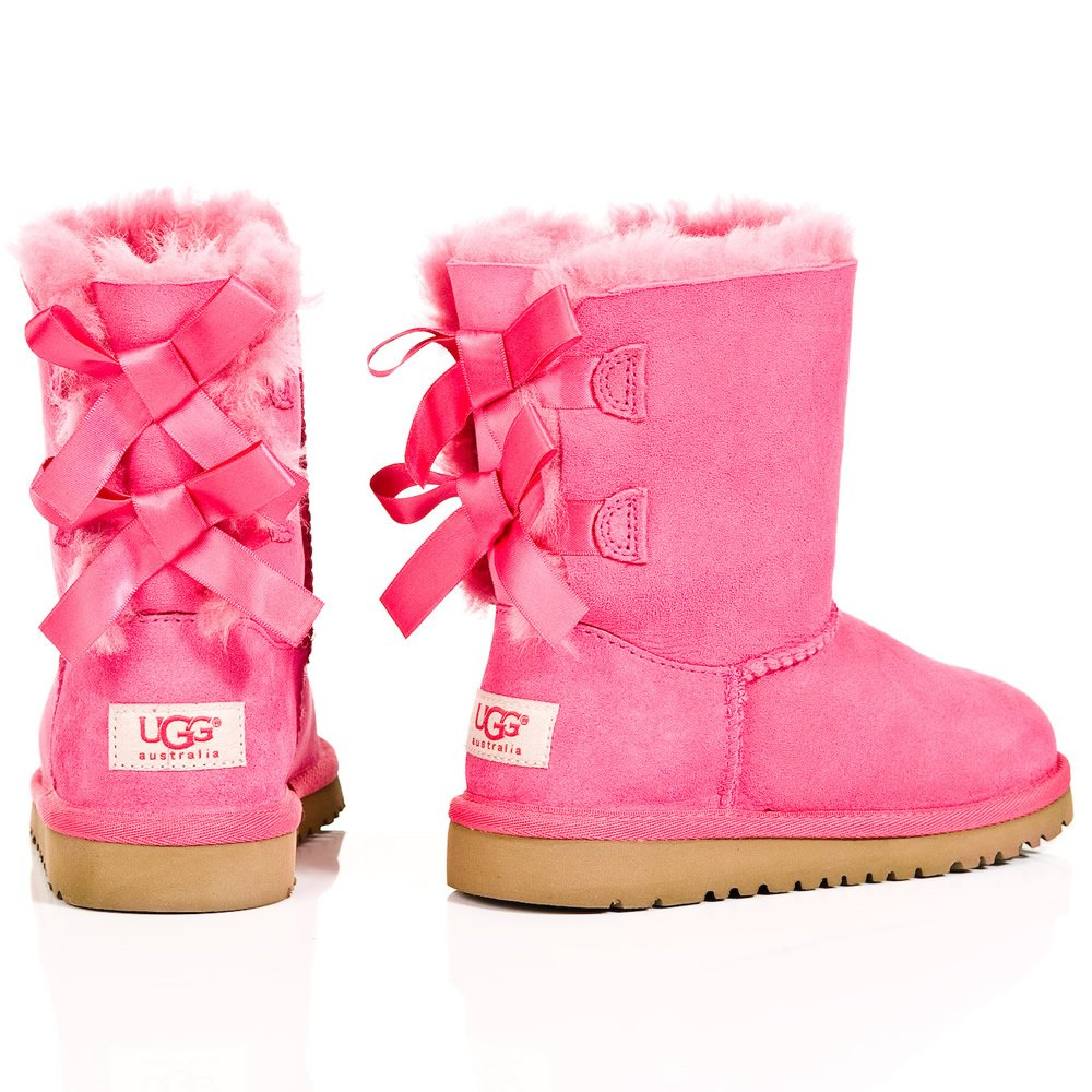 Cerise Bailey Bow Kids Pink Ugg 174 Boot
