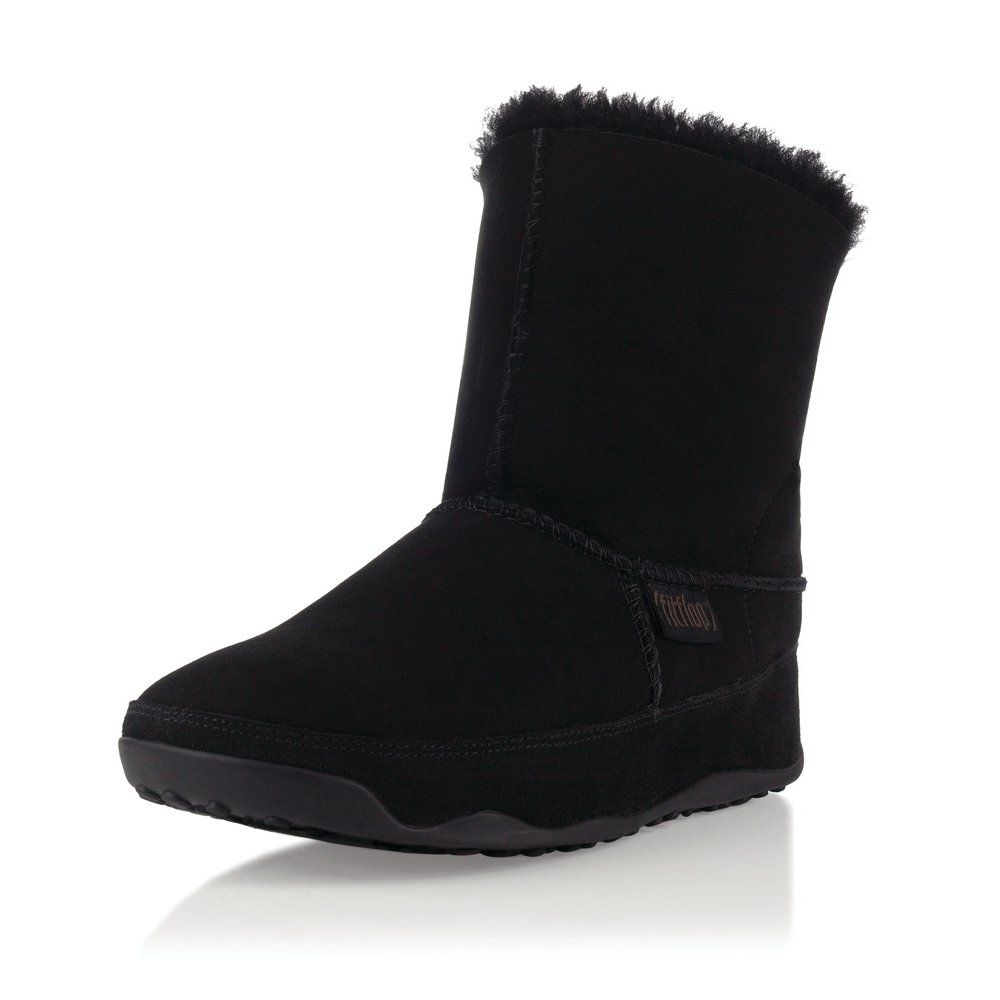 fitflop fitflop black mukluk tm womens ankle boot fitflop from daniel footwear uk. Black Bedroom Furniture Sets. Home Design Ideas