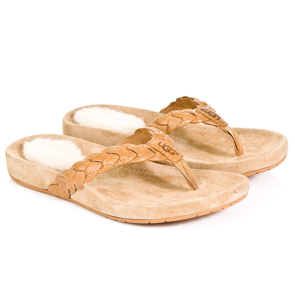 ugg ugg tan kids mckenzey flip flop ugg from daniel footwear uk. Black Bedroom Furniture Sets. Home Design Ideas