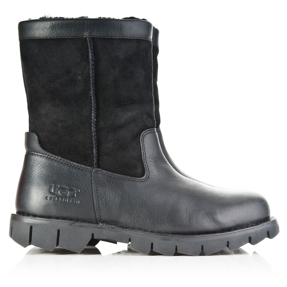 UGG UGG® Black Leather Beacon Men's boot - UGG from Daniel ...