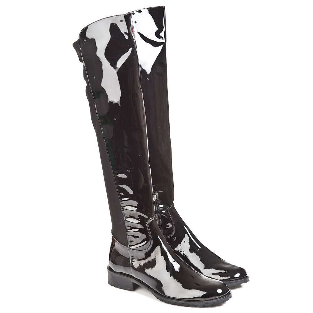 daniel daniel mountain black patent womens flat knee boot