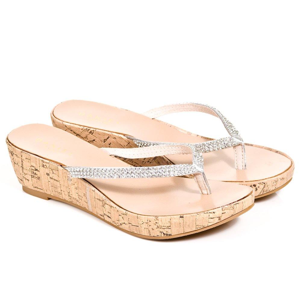Daniel Silver Shelby Women S Low Wedge Sandal