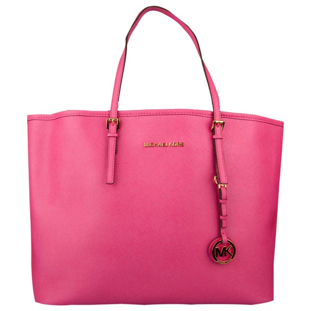 michael kors pink jet set travel tote women s bag. Black Bedroom Furniture Sets. Home Design Ideas
