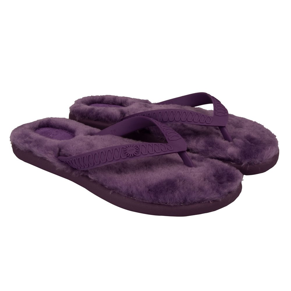 ugg boysenberry fluffie women s flip flop. Black Bedroom Furniture Sets. Home Design Ideas