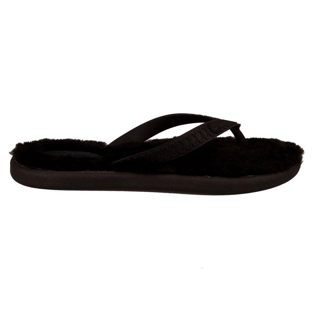 Ugg 174 Black Fluffie Women S Flip Flop