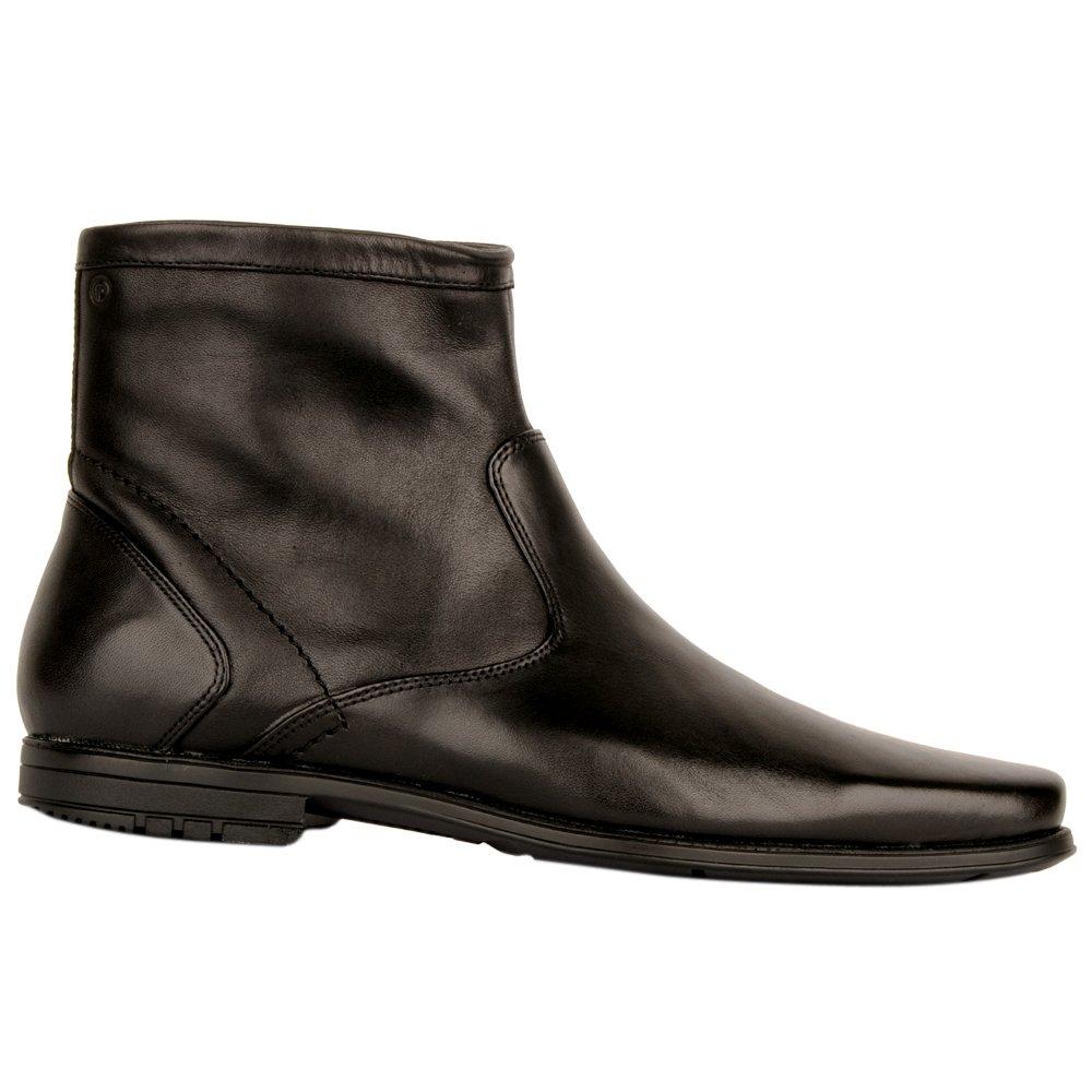 rockport black zipper men s ankle boot