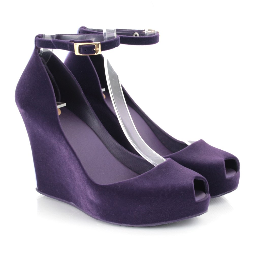 Purple Wedge Heels - Is Heel