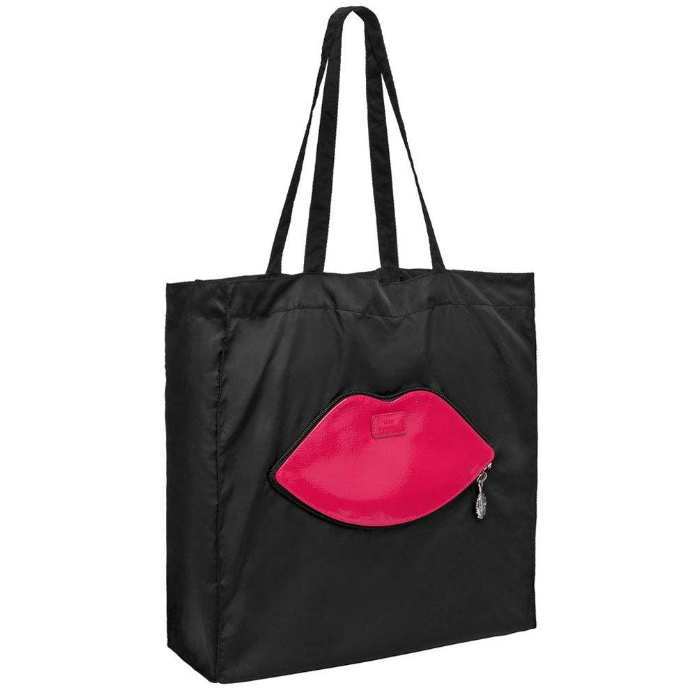 Lulu Guinness Pink Lips Foldaway Tote Women S Bag