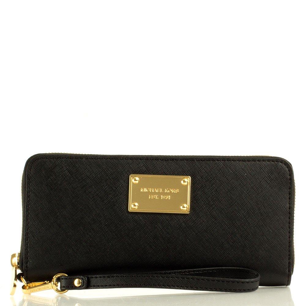 michael kors michael kors black continental iphone wallet case. Black Bedroom Furniture Sets. Home Design Ideas
