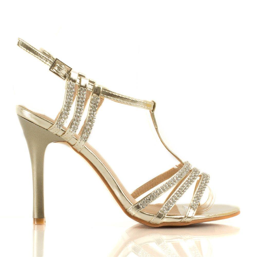 Daniel Gold Promises Women S Diamante Strappy Sandal