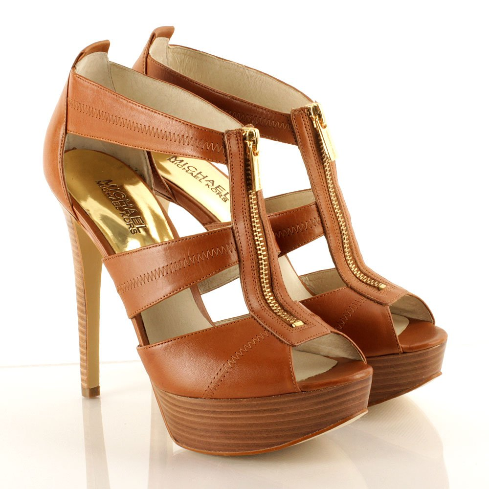 Michael Kors Tan Berkley Platform Women's Sandal