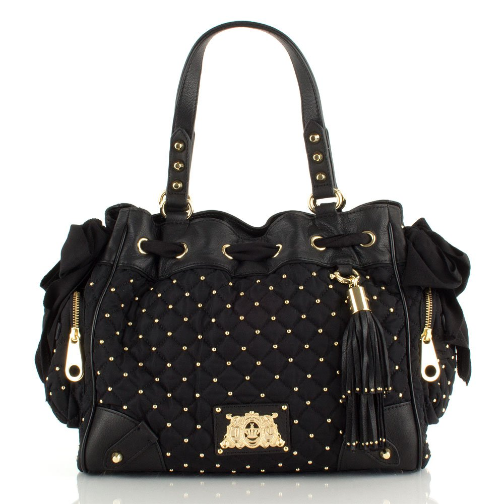 Juicy Couture Black Quilted Nylon Daydreamer Women's Bag