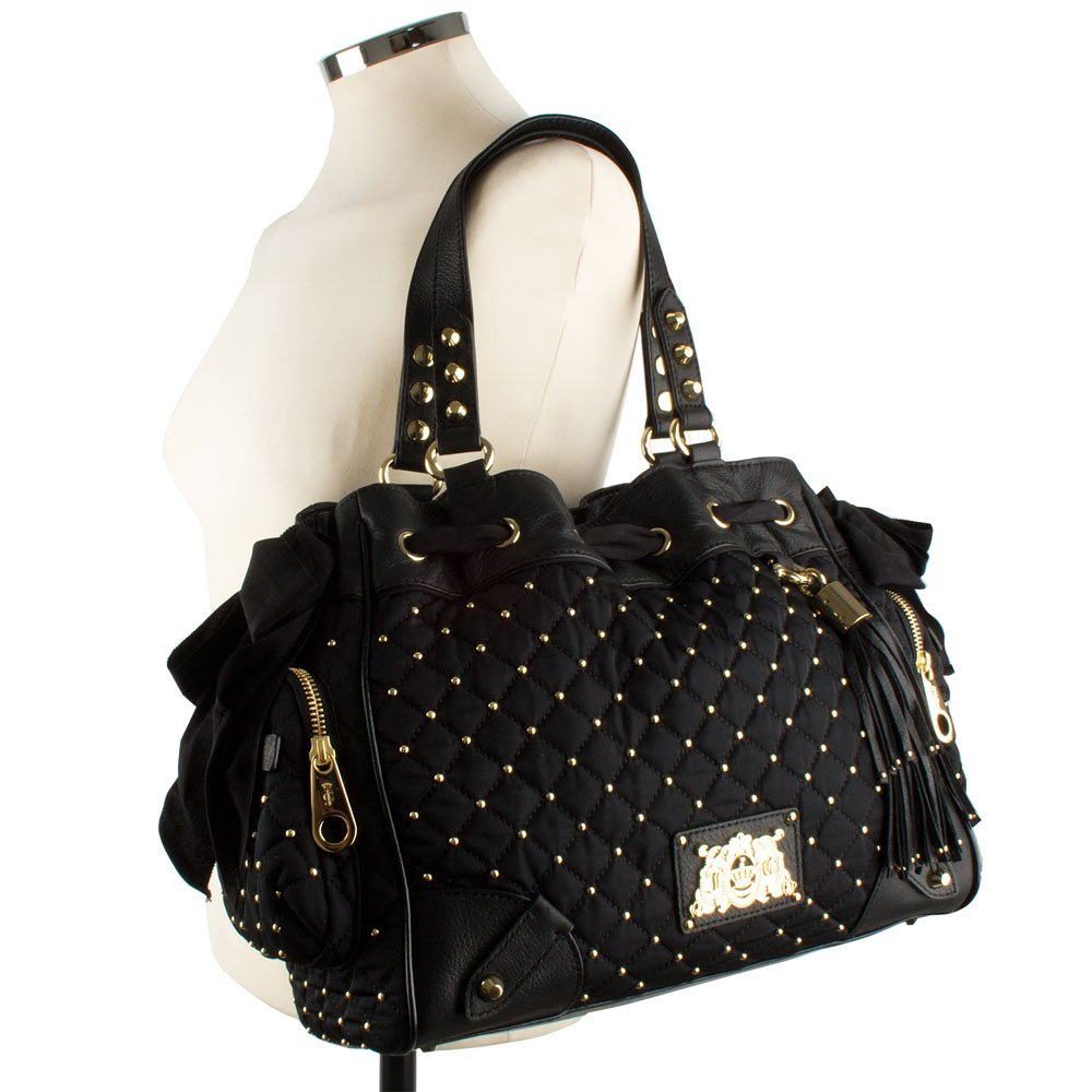 Juicy Couture Black Quilted Nylon Daydreamer Women S Bag